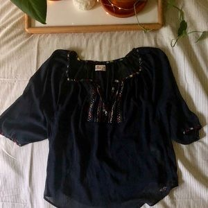 HOLLISTER CO. sheer tunic